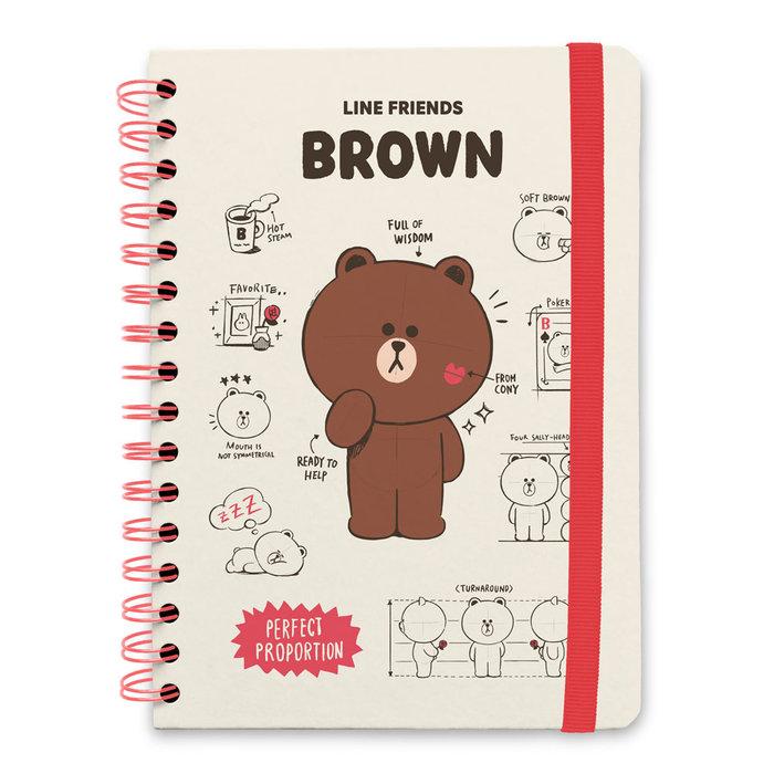 Cuaderno tapa forrada a5 bullet line friends