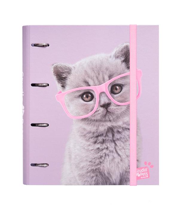 Carpeta 4 anillas troquelada premium studio pets cats