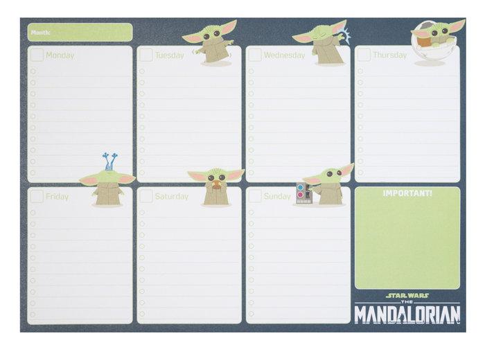 Bloc planificador semanal a4 the mandalorian