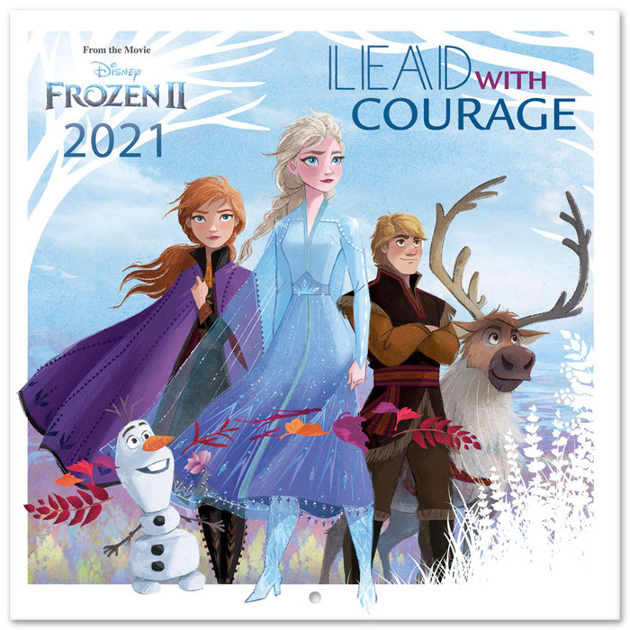 Calendario 2021 30x30 disney frozen