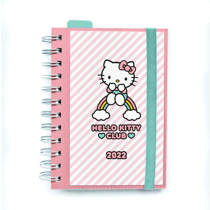 Agenda anual 2022 dia pagina s hello kitty