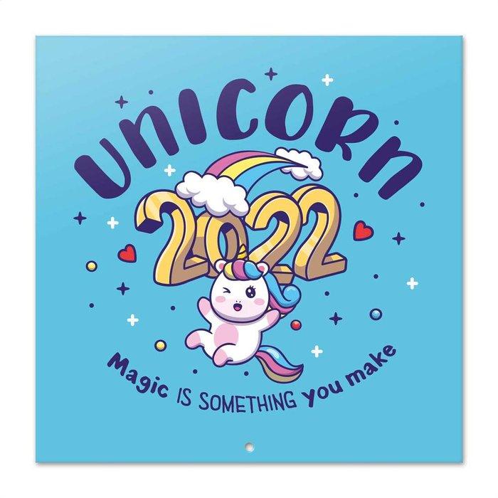 Calendario 2022 30x30 unicorn