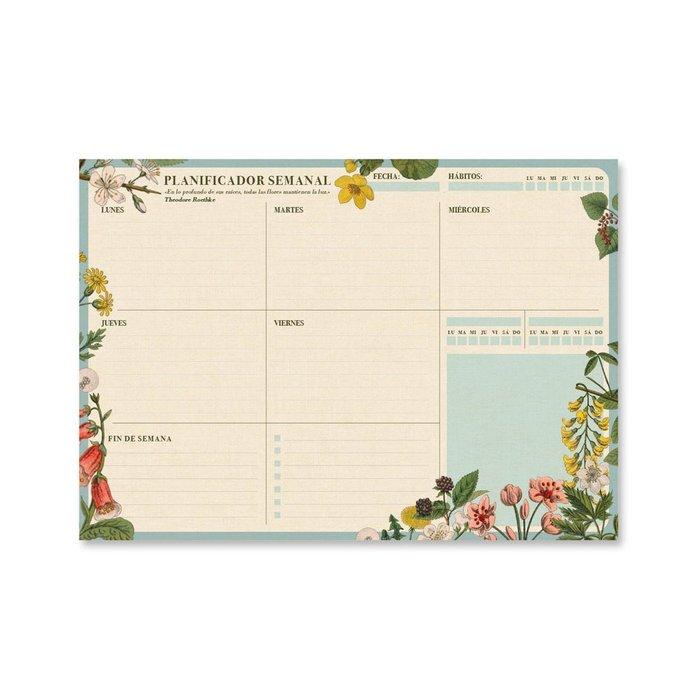Bloc planificador semanal a4 botanical espaÑol