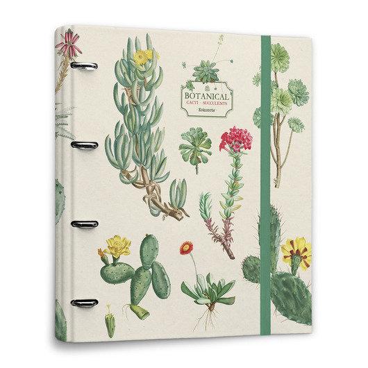 Carpeta 4a troquelada premium botanical cacti