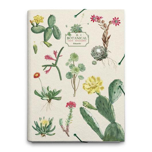 Carpeta solapas botanical cacti