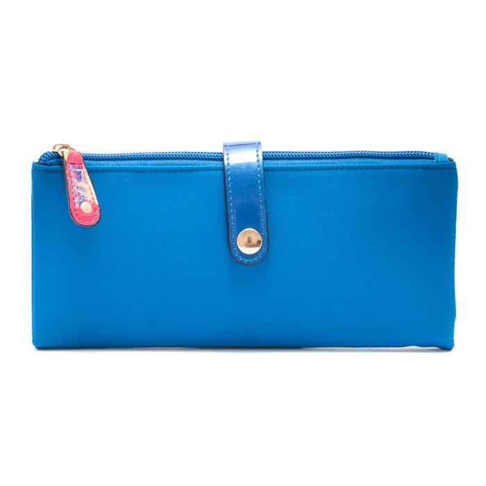 Monedero  marsella poliester polipiel azul vm18089/09