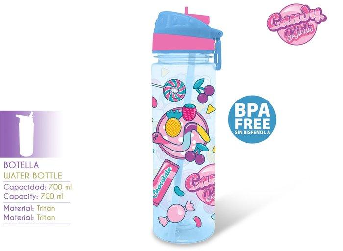 Botella de agua 700ml candy