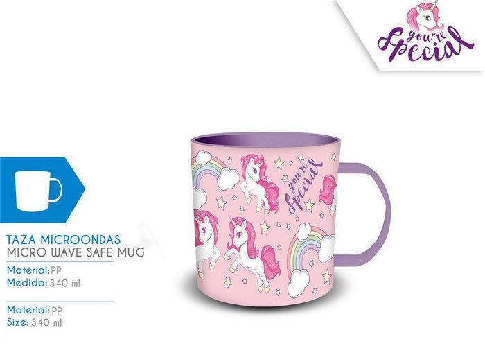 Taza pp 340ml unicornio