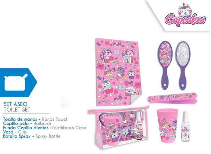 Set de aseo cupcakes unicornio