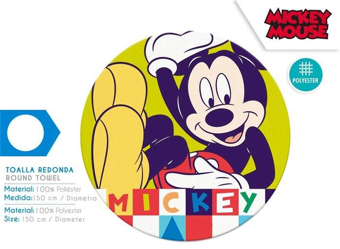 Toalla redonda mickey 150cm polyester