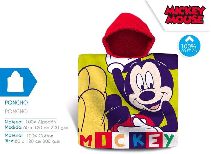 Poncho mickey algodon