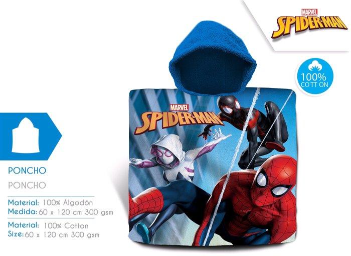 Toalla spider-man infantil con capucha