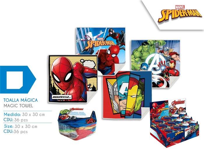 Expositor 36 toallitas magicas spider-man surtidas