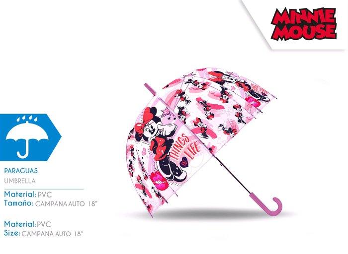 Paraguas 18´´ auto dome minnie