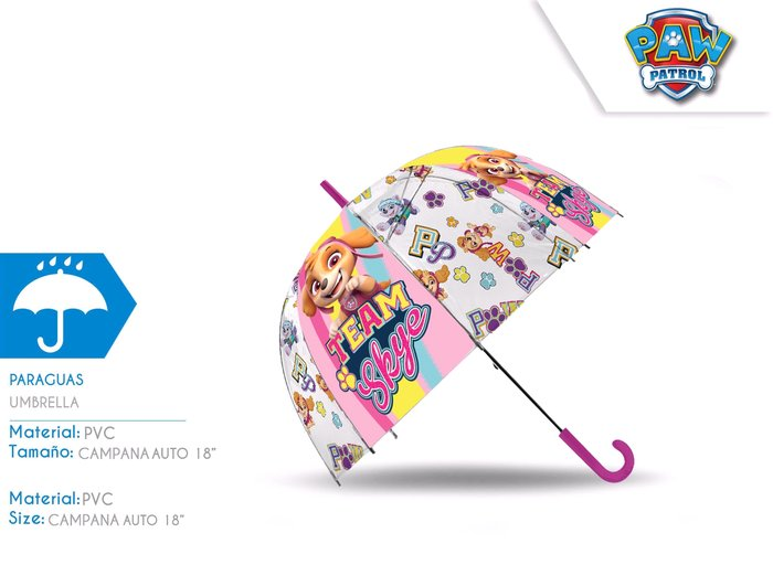 Paraguas 18´´ auto dome sky