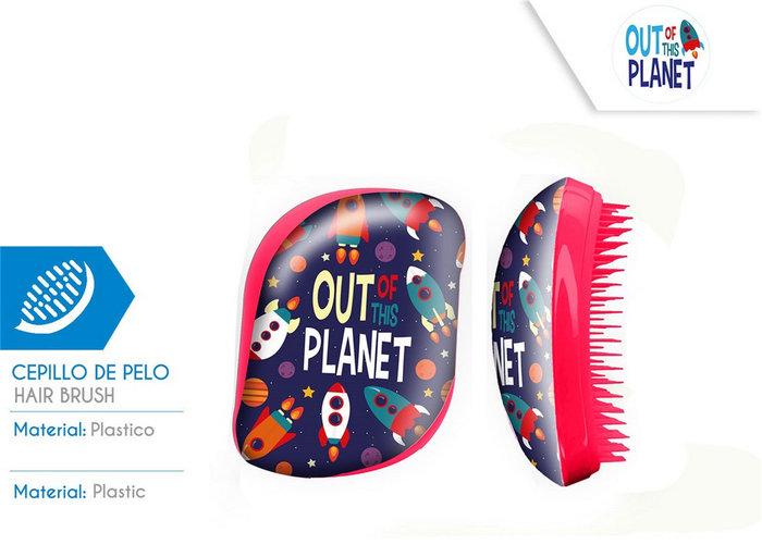 Cepillo de pelo sin mango caja acetato out planet