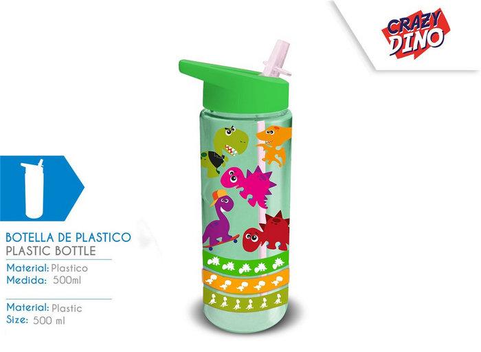 Botella de plastico 500ml crazy dino