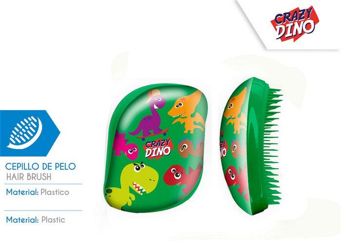 Cepillo de pelo sin mango caja acetato crazy dino