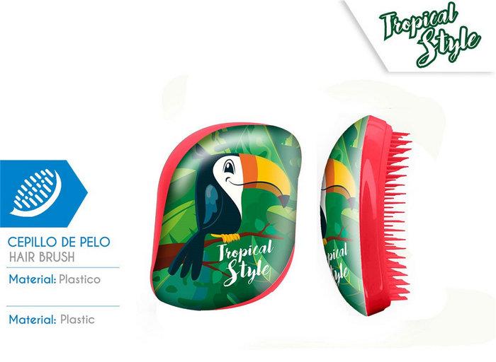 Cepillo de pelo sin mango caja acetato tucan