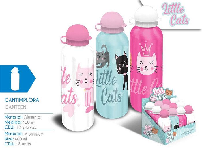 Cantimplora aluminio 500ml little cats surtido 3 diseÑos