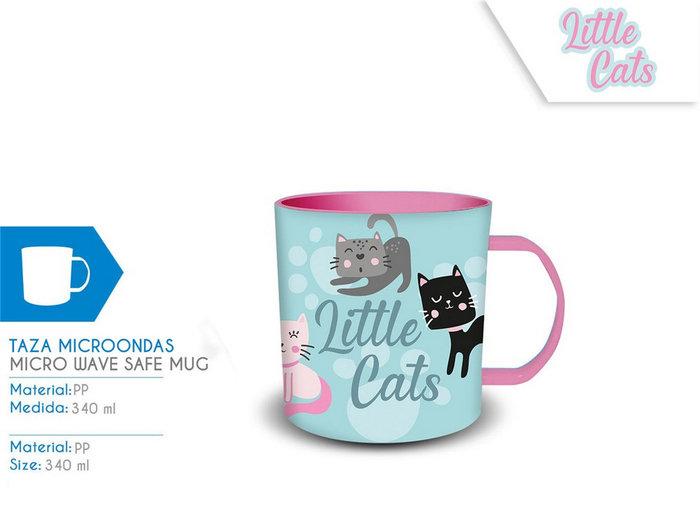 Taza microondas little cats