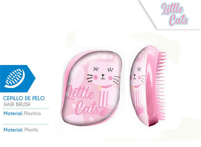 Cepillo de pelo sin mango caja acetato little cats
