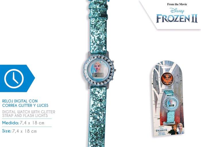 Reloj digital corona decorada frozen 2