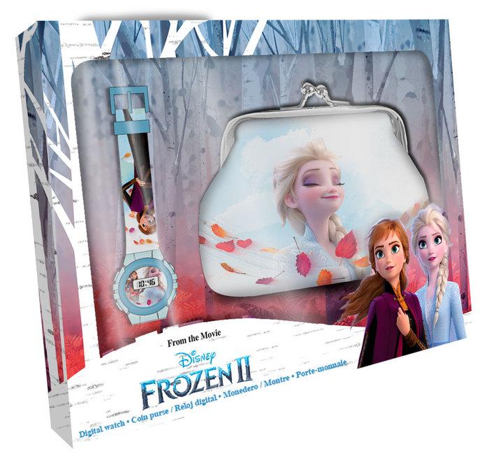 Set reloj digital + billetera en caja frozen 2