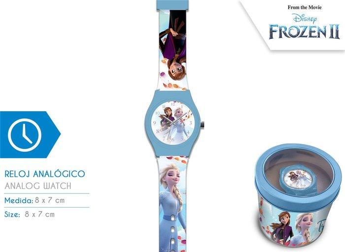 Reloj analogico en caja de metal frozen 2