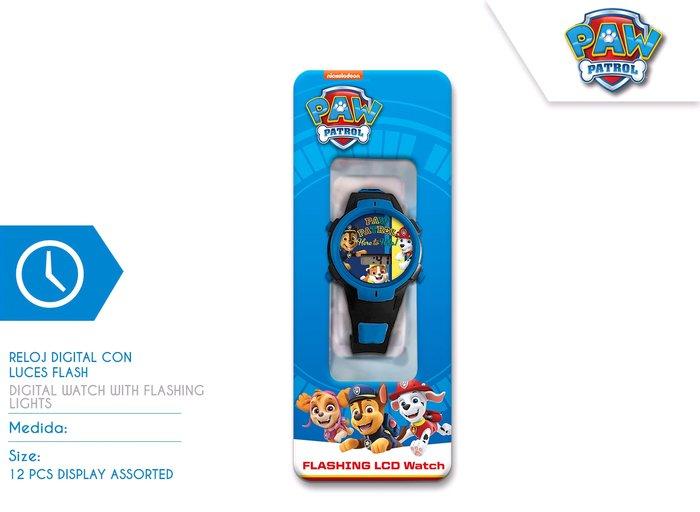 Reloj digital en display paw patrol