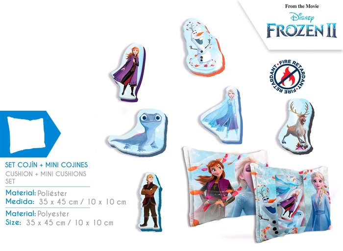 Set cojin y mini cojines frozen