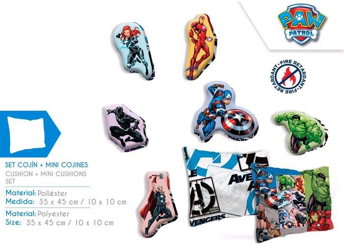 Set cojin y mini cojines avengers