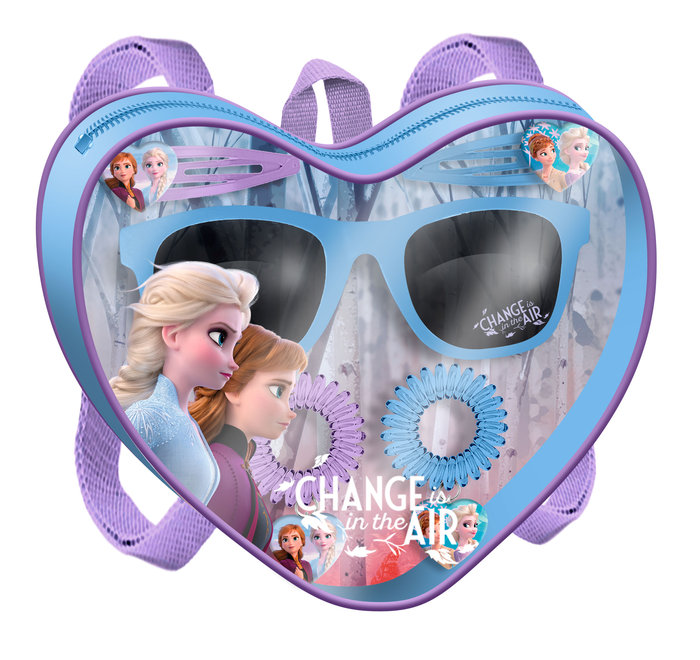 Bolsito corazon con gafas y acc. pelo frozen 2