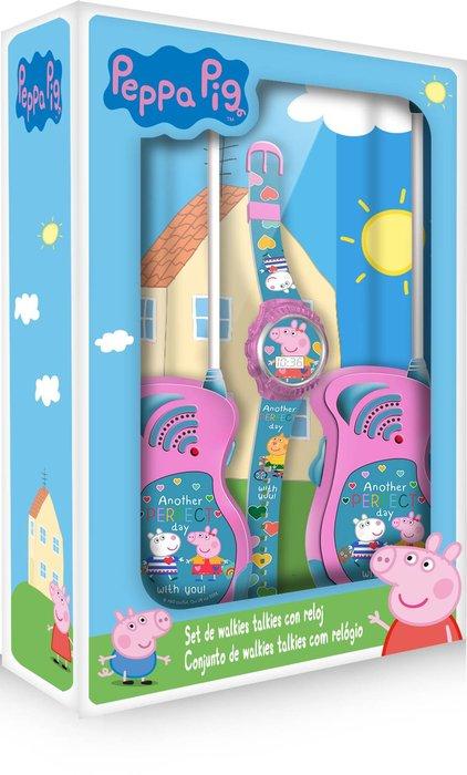 Set reloj digital y walkie talkie peppa pig
