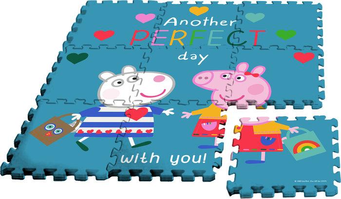 Alfombra puzzle eva 9 pzas c/bolsa peppa pig