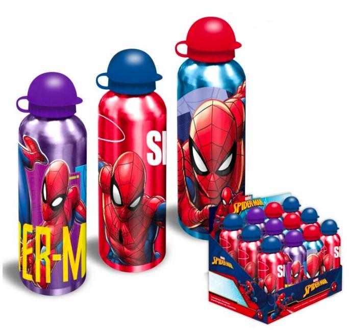 Botella cantimplora aluminio spider man surtida