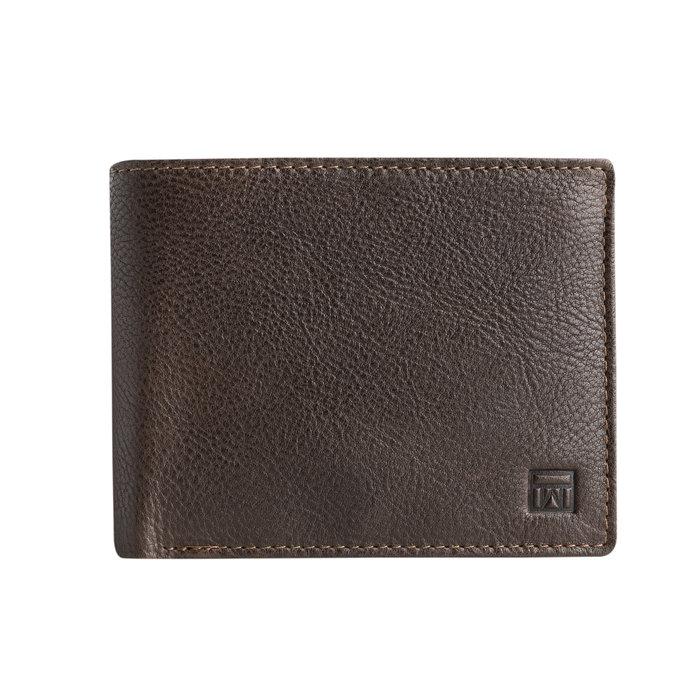 Billetero wash leather marron