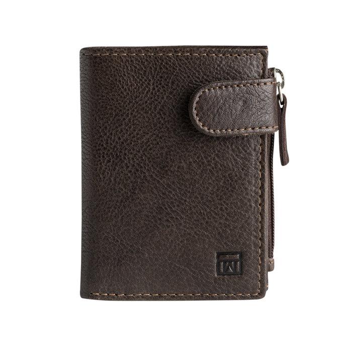 Billetero con broche exotico leather marron