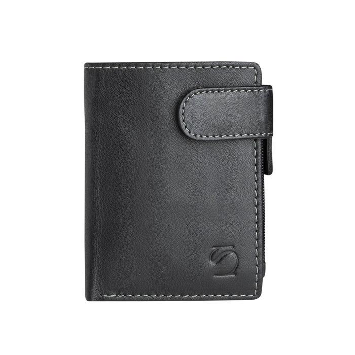 Billetero exotico leather negro