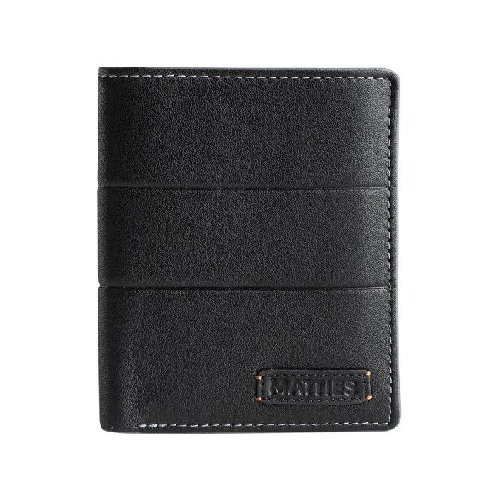 Billetero mapra leather negro vertical