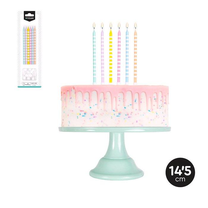 Vela extralarga colores surtidos 14,5cm blister 12uds