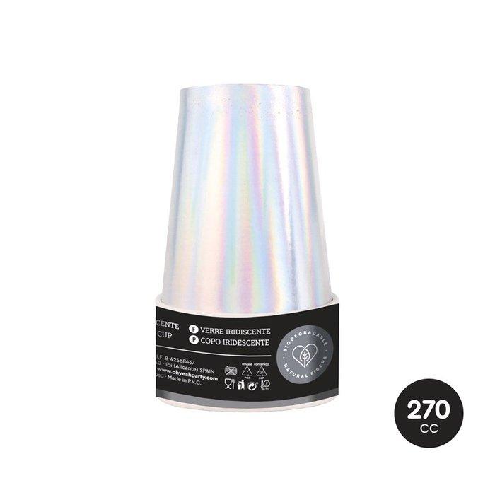 Vaso iridiscente 270cc (9oz) carton 6 uds