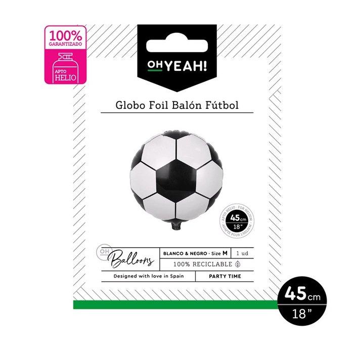 Globo poliamida balon futbol 45cm-18 apto helio 1 ud