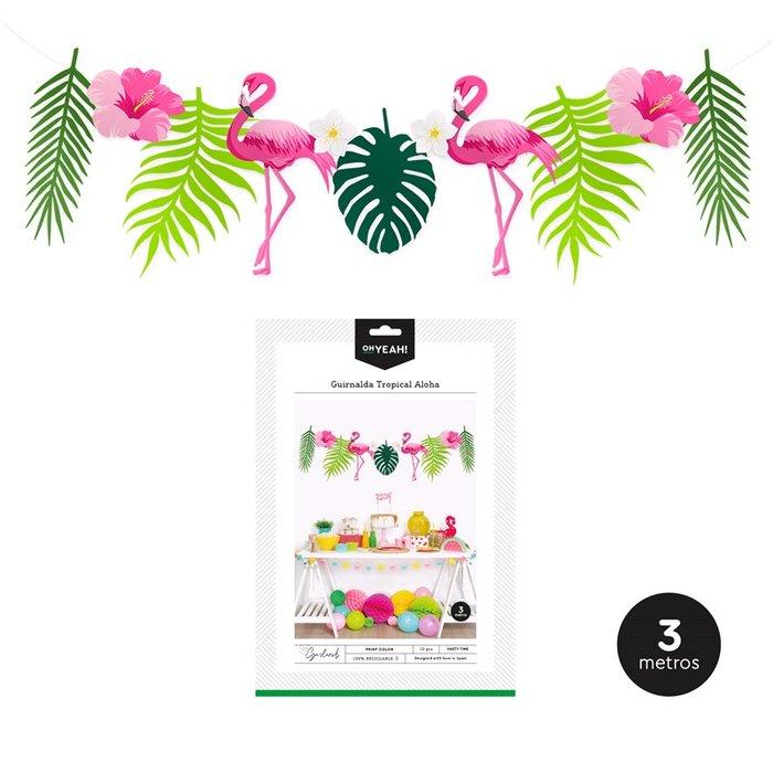 Guirnalda tropical aloha 3m carton 10 uds