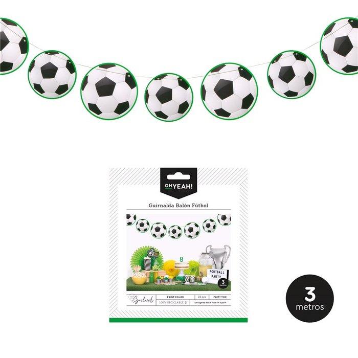 Guirnalda balon futbol 3m carton