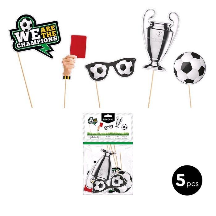Set accesorios para photocall futbol  carton 5 uds