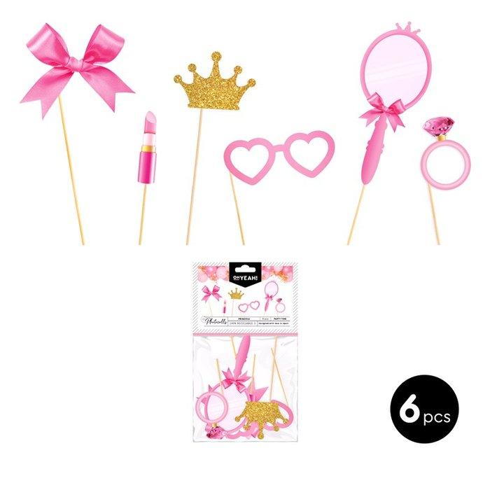 Set accesorios photocall princess glitter carton