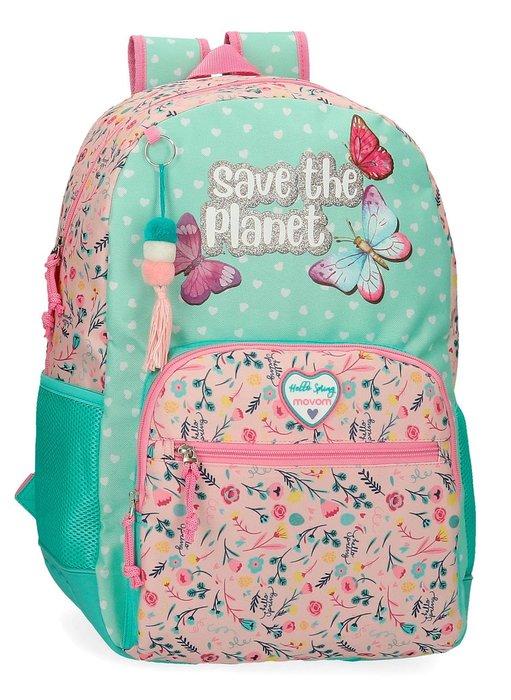 Mochila escolar movom save the planet adaptable