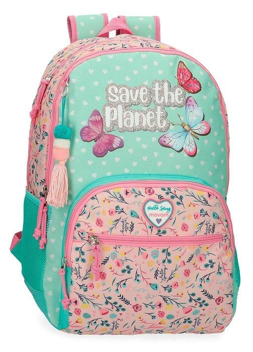 Mochila escolar movom save the planet dos compartimentos ada