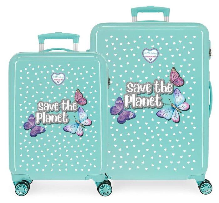 Juego de maletas movom save the planet rigidas 55-68cm
